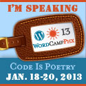 WordCamp Phoenix 2013: I'm speaking